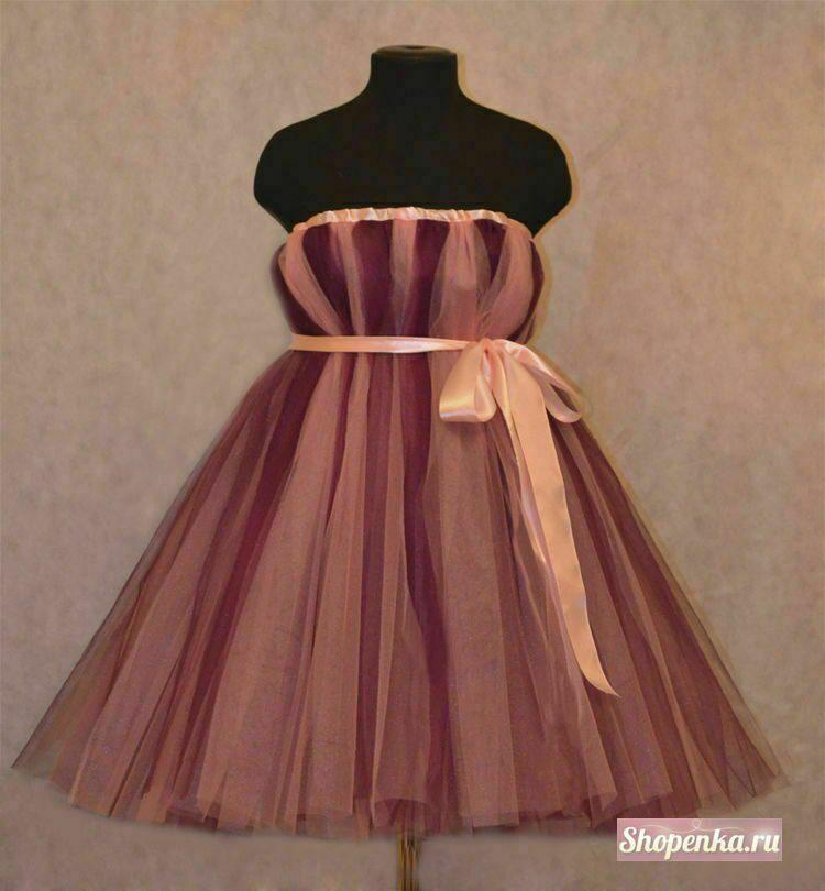 Платье из фатина сшить 102