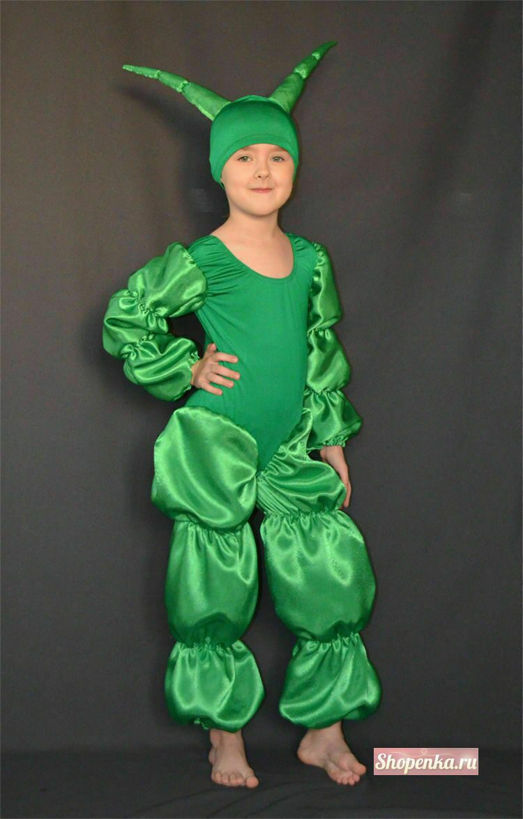 Как сделать костюм гусеницы в домашних условиях